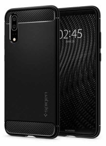 Back Case Spigen Rugged Armor Huawei P20 czarny