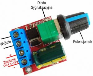 Regulator mocy PWM DC 4,5V 35V 5A 90W LED