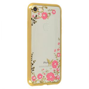 Futerał Back Case FLOWER Huawei P9 Lite Mini Złoty