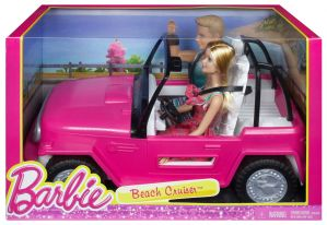 Barbie Plazowy Jeep + Ken CJD12 Mattel