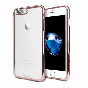 Futerał Back Case Jelly Mercury Ring 2 Iphone 7 Różowo złoty