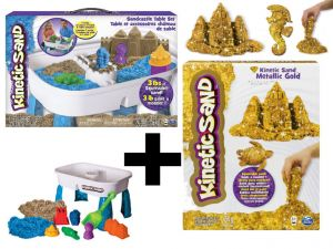 Kinetic Sand Stolik do zabaw z piaskiem 6031658 + kinetic 454g gratis